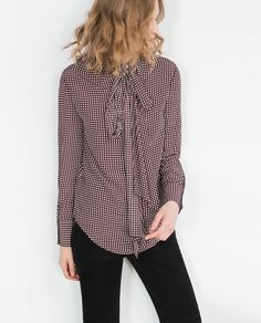PRINTED BLOUSE-View all-Woman-NEW IN | ZARA United States