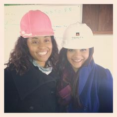 Hard hat ready for our Trinity Building and Construction Management Corp. Sovereign Bank video shoot! #Construction #HardHat #MarketingVideo #WorkAtSpotlight