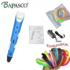 100% Original BAPASCO 3D Pen Add free ABS/PCL Filament 3D DOODLE Pen For Kids Best Present 3D Drawing Pen lix for kids Free ship //Price: $29.24//     #shop