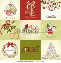 stock vector : Set of Christmas Cards