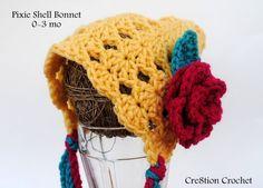 0-3mo shell duendecillo capó patrón de crochet libre