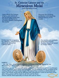 Miraculous Medal Explained Poster.