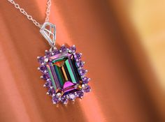 Our Coated Mystic Topaz Pendant collection