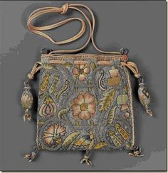 Drawstring bag   English, late 16th–early 17th century  Museum of Fine Arts, Boston