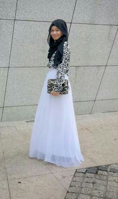 White Long Muslim Style Skirts A Line Floor Length Maxi Skirt Modest Chiffon Skirt(China (Mainland)) Islamic Fashion, Muslim Fashion, Modest Fashion, Hijab Fashion, Muslim Girls, Muslim Women, Muslim Couples, Modest Wear, Modest Outfits