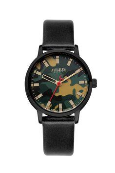 Julius Watch JA-923E Fashion Watch Women`s Leather Strap Watch