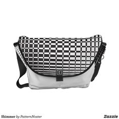 Shimmer Courier Bag #blackandwhite #fashion #style #retro #bags #gifts