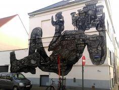 regram @powwowworldwide New mural by @zioziegler in Oostende Belgium for @thcrstlshp. // Found via @streetartnews.