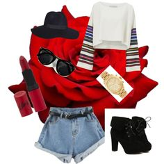 ootd by popalah on Polyvore featuring polyvore fashion style TURNOVER Michael Kors Rimmel