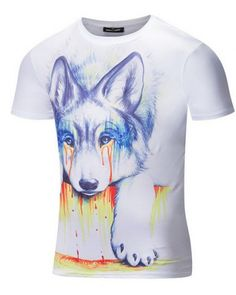 89e9faaa7b57 Wolf t shirt 3D hand painted t shirts for men Mens Casual T Shirts