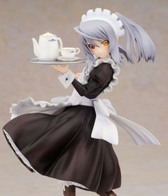 Anime-IS-Infinite-Stratos-Laura-Bodewig-Maid-Ver-1-8-PVC-Figure-New-In-Box