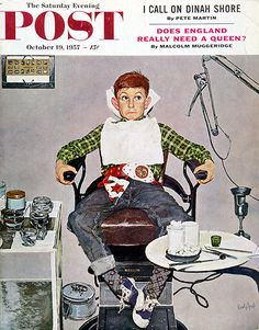 The Saturday Evening Post October 19 1957 Kurt Ard Vintage Americana Peintures Norman Rockwell, Norman Rockwell Art, Norman Rockwell Paintings, Painting Prints, Canvas Prints, Dental Art, Saturday Evening Post, Vintage Art, Wrapped Canvas