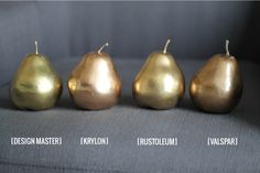 Gold Spray Paint. They all look different.