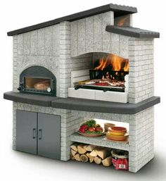 An outdoor kitchen can be an addition to your home and backyard that can completely change your style of living and entertaining. Earlier, barbecues temporarily set up, formed the extent of culinary attempts, but now cooking outdoors has become an. Wood Oven, Wood Fired Oven, Pizza Oven Outdoor, Outdoor Cooking, Brick Grill, Bbq Area, Summer Kitchen, Outdoor Kitchen Design, Backyard Projects