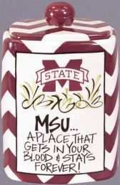 Mississippi Bulldogs Kitchen Canister ONLY $35.00