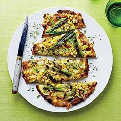 Corn, Squash, and Green Onion Flatbreads | CookingLight.com