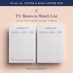 Printable TV show Tracker TV Guide Netflix List TV Show To | Etsy To Do Lists Printable, Printable Planner, Printables, Chore Checklist, Netflix List, Desk Stationery, Watch Tv Shows, Business Planner, Tv Guide