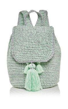Mint Cote D'azur Backpack by 7II for Preorder on Moda Operandi