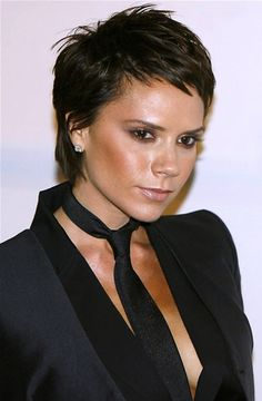 Image detail for -Victoria Beckham in a sexy sweet cropped short hairstyle at her ...