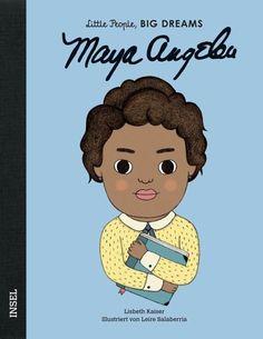 Maya Angelou erlebte als Kind etwas Schlimmes und hörte auf zu sprechen. In dieser schweren Zeit gaben Bücher ihr Halt und die Kraft, ihre Stimme wiederzufinden. Als Erwachsene schrieb sie selbst und wurde zu einer der großen Autorinnen und Aktivistinnen der afroamerikanischen Bürgerrechtsbewegung. Durch ihre wunderbaren Worte gab sie vielen Menschen Hoffnung.  Jede dieser Persönlichkeiten hat Unvorstellbares erreicht. Dabei begann alles, als sie noch klein waren: mit großen Träumen. Rosa Parks, Maya Angelou Books, Arkansas, Isabel Sanchez, Wilma Rudolph, Learning Cards, Dream Book, Little People, Historical Photos