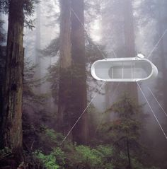 Living in a Mobile Capsule  Architecture and design studio Kyu Che based in San Francisco developed a project of capsule-home sustainable and mobile at once. Lifepod is a design concept based on the traditional habitats of Mongols : round tents used typically by nomads. The goal is to allow to residents to be able to install their home easily in a forest a beach or a lake thanks to attaches or feet adapted to the chosen environment.        #xemtvhay