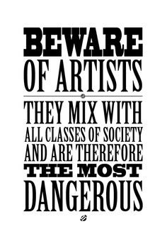 FREE printable quote about artists  #LostBumblebee ©2014