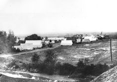 """""""Tent City"""" Cheyenne in 1867 set up along what is now 16th (Lincolnway) downtown. (Wyoming State Archives 977, 8777)"""