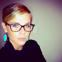 Kendra Scott earrings & Versace glasses