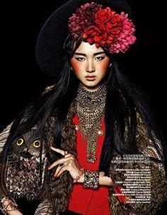 Ethnic Carnival ..  photographer: Trunk Xu  model: Li Jie Liu ..  hair: Feng…