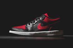 #Jordan 1 Low - Black/Gym Red #sneakers