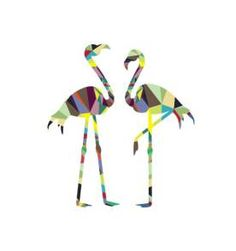 Adesivo de parede Flamingos