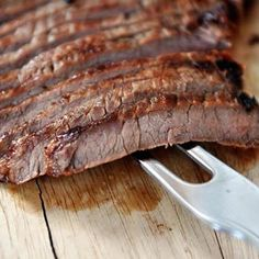 Grilled Honey & Ginger Marinated Flank Steak Recipe