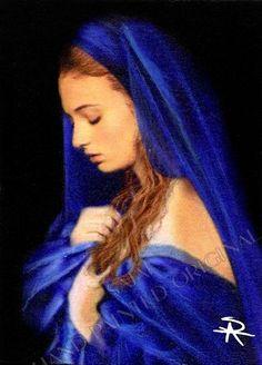Original Game of Thrones Sansa Stark portrait by Antoinette Sajaf