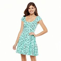 LC Lauren Conrad Butterfly Fit and Flare Dress