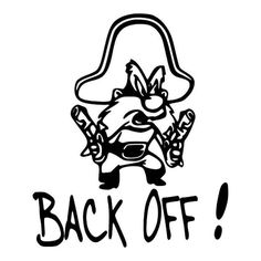 Yosemite Sam Back Off Vinyl Decal Sticker Stickers And