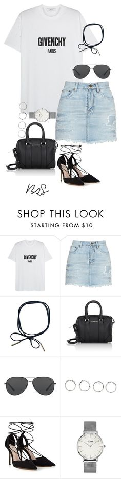 """#735"" by blendingtwostyles ❤ liked on Polyvore featuring Givenchy, Yves Saint Laurent, Michael Kors, Boohoo, Lipsy and CLUSE"