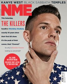 NME Magazine cover, Brandon Flowers from The Killers, June 22nd 2013