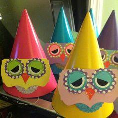 Owl Birthday Party Hats