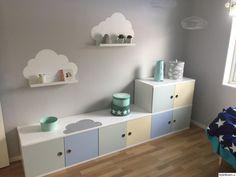 Baby Bedroom, Kids Bedroom, Baby Corner, Baby Barn, Kallax, Kidsroom, Floating Shelves, Playroom, Nursery