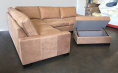 This Braxton Mini Leather L Sectional is on its way to Florida, tailored in Burnham Beige with the matching Storage Cocktail Ottoman. Burnham is an aniline nubuck leather from New Zealand that has been gaining popularity with our customers and has a smooth, suede-like, velvety hand. Build your Mini Leather L Sectional: https://www.leathergroups.com/shop/Braxton-Mini-Leather-L-Sectional-Sofa.html