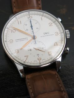 IWC Portuguese Chrono Steel Watch for sale online Iwc Chronograph, Stainless Steel Watch, Portuguese, Omega Watch, Watches, Suits, Accessories, Ebay, Wristwatches