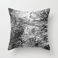 6 F O O T Under | #Branches & #Leaves Pillow - by David Bastidas - society6.com