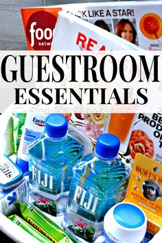 Great ideas to make your guests feel at home! Including lists of items to purchase ahead of time!