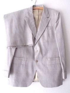 Ending Today!! LeBaron Suit Size 40 Long Custom Plaid Wool Vintage 60's Costume Pants  #LeBaron #TwoButton