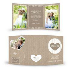 Herzige Danksagung Hochzeit Joana und Elias Packpapier - Carinokarten.de - Carinokarten.de: