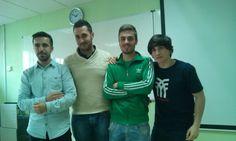 Grupo de traballo VÍDEO. David, Alejandro, Roberto e Julio.