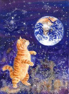 cosmic-cat-by-aeldrew - cat art