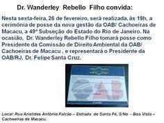Jornalista Denise Machado: Cerimônia de posse: nova gestão da OAB/Cachoeiras ...