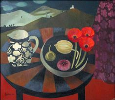 Mary Fedden oil painting.    Photographic Copyright Andrew Sanderson 2005.  www.andrewsanderson.com