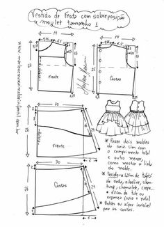 Kids Dress Patterns, Sewing Patterns, Doll Clothes, Floor Plans, Diagram, Toddler Dress, Fashion Plates, Craft, Dress Patterns